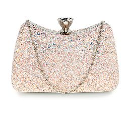 vintage champagne glitter fairytale clutch