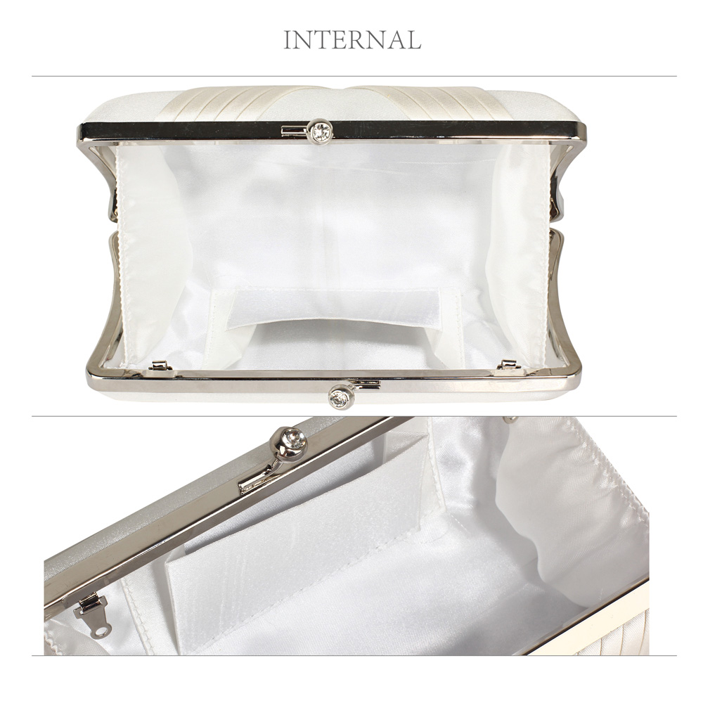 bridal ivory satin clutch