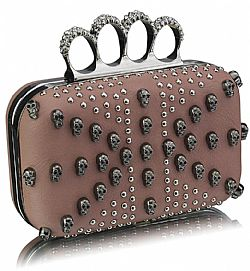 punk chic clutch σε nude