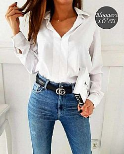 blogger hot basic κρεπ πουκαμίσα 4e1b3a32fcc