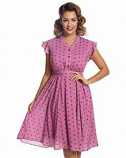 4b5ebf92b5dc ... vintage αέρινο 40s tea φόρεμα Kendra dirty πουά
