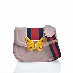 fashion bag acid G style butterfly σε ροζ