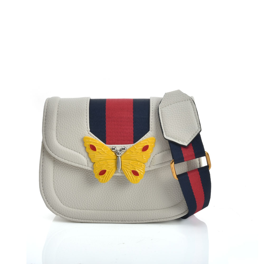 fashion bag acid G style butterfly σε λευκό