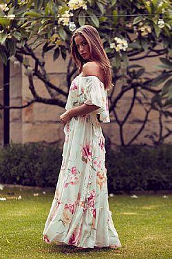 romantic bohemian luxe φόρεμα delicate flower Selina ... 0d92eea8353