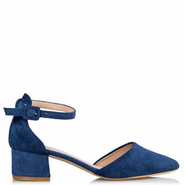 new vintage γόβες ankle strap Shanna low denim