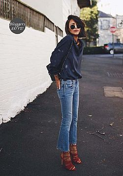 blogger & celeb must have cropped denim παντελόνι