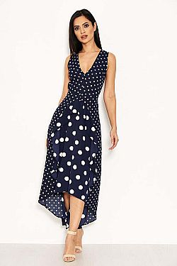 essential φόρεμα mix up polka dots high low