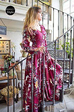 75752c92446c bohemian luxe floral φόρεμα magenta Mayfair bohemian luxe floral φόρεμα  magenta Mayfair