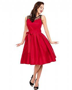 9345c8cc9dab pin up 50s vintage φόρεμα red Scarlett ...