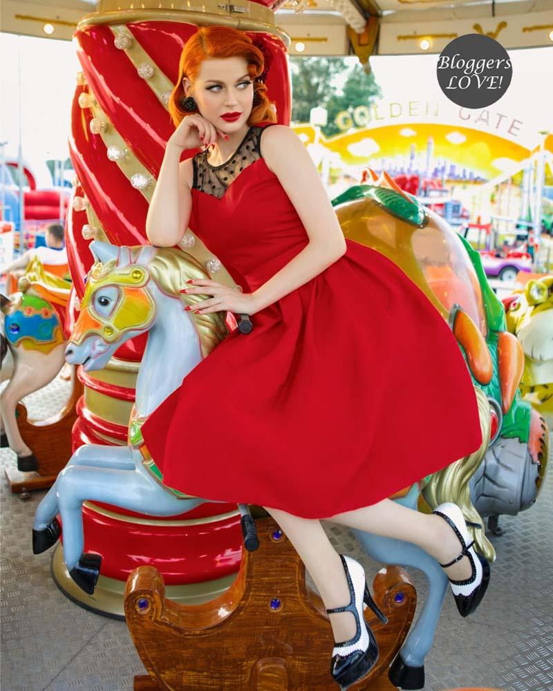 d2aba2a55c32 Perfectdress pin up 50s vintage φόρεμα red Scarlett