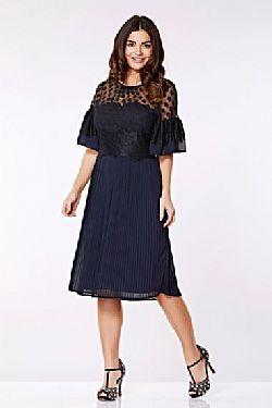 280e101c3a12 vintage 20s flapper φόρεμα πιέτες navy chloe ...