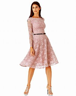 ef1269efd350 timeless chic midi φόρεμα δαντέλα κλος σε dusky λιλά ...