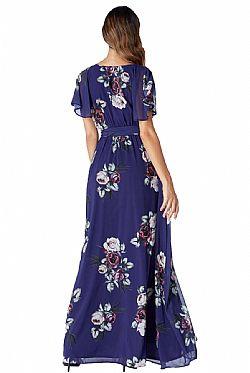 096e05f2ea96 romantic maxi αέρινο φόρεμα Petunia ink μπλε ...