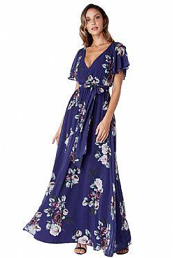 4a33b99707a2 ... romantic maxi αέρινο φόρεμα Petunia ink μπλε