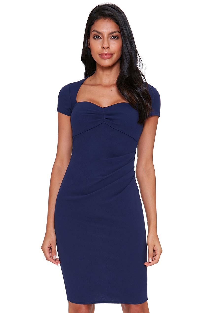 2380e1bc06b8 sweetheart feminine φόρεμα navy μπλε