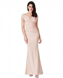 9aafae511afb ... romantic minimal βραδινό maxi φόρεμα σε nude