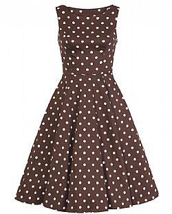 2adc9ae39c1b vintage φόρεμα choco πουά Julia vintage φόρεμα choco πουά Julia