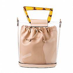 a0deb19169 allday fashionista τσάντα tartaruga transparent σε μπεζ