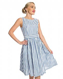 vintage cute φόρεμα antique stripe Audrey