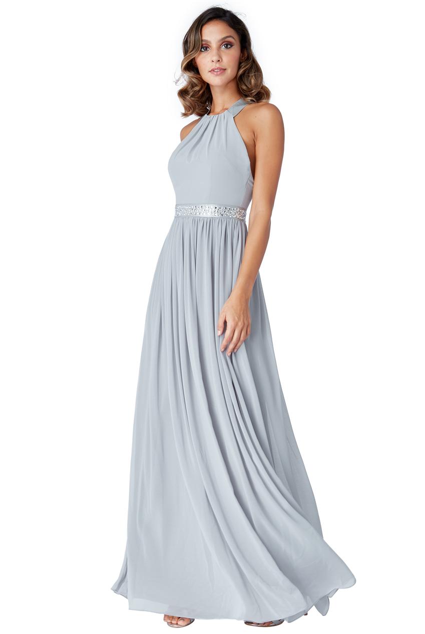 1807dc15928 αέρινο fairytale maxi φόρεμα silver Aurora