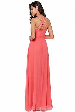 9ba1a6fce06d αέρινο princess maxi φόρεμα σε coral ...