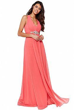 9f0727de4842 αέρινο princess maxi φόρεμα σε coral αέρινο princess maxi φόρεμα σε coral