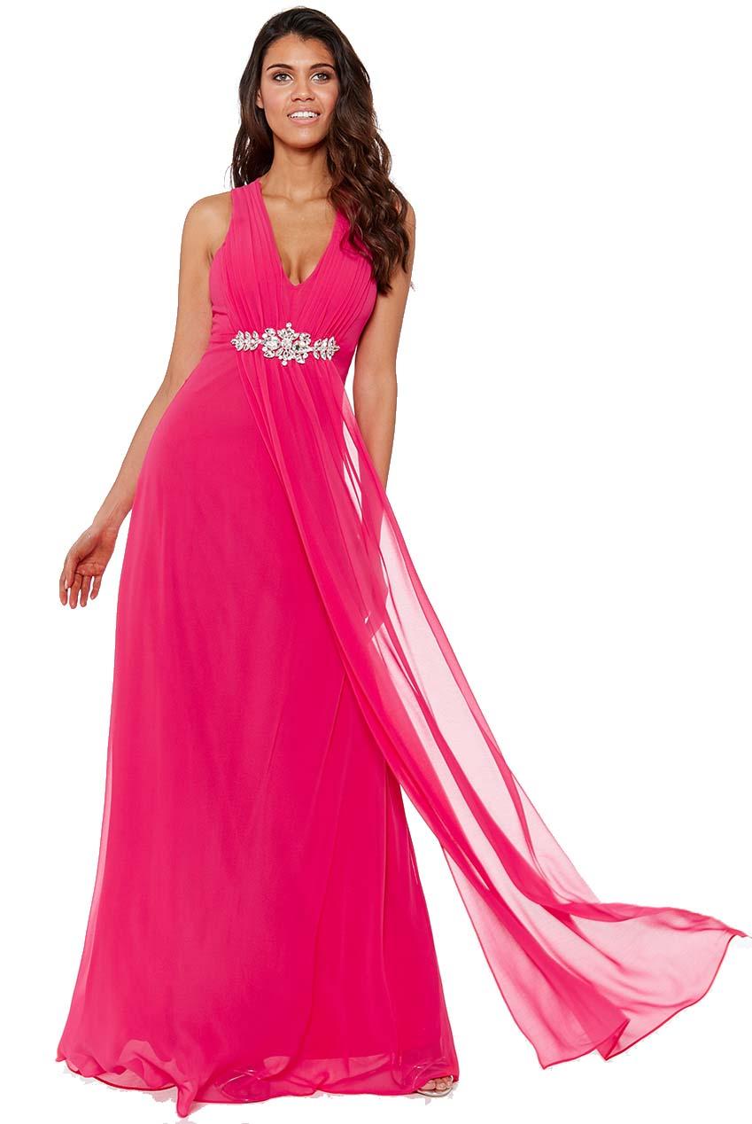 14aabc246ce6 αέρινο princess maxi φόρεμα σε cerise φούξια