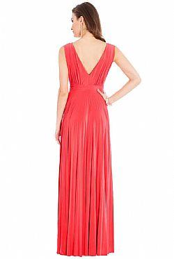 1f793dea7e96 grecian goddess luxe maxi φόρεμα σε coral ...