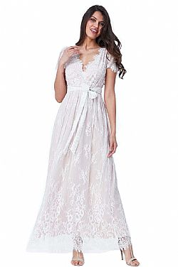 097b3493e9bb ... bridal romantic fine lace φόρεμα Isadora white