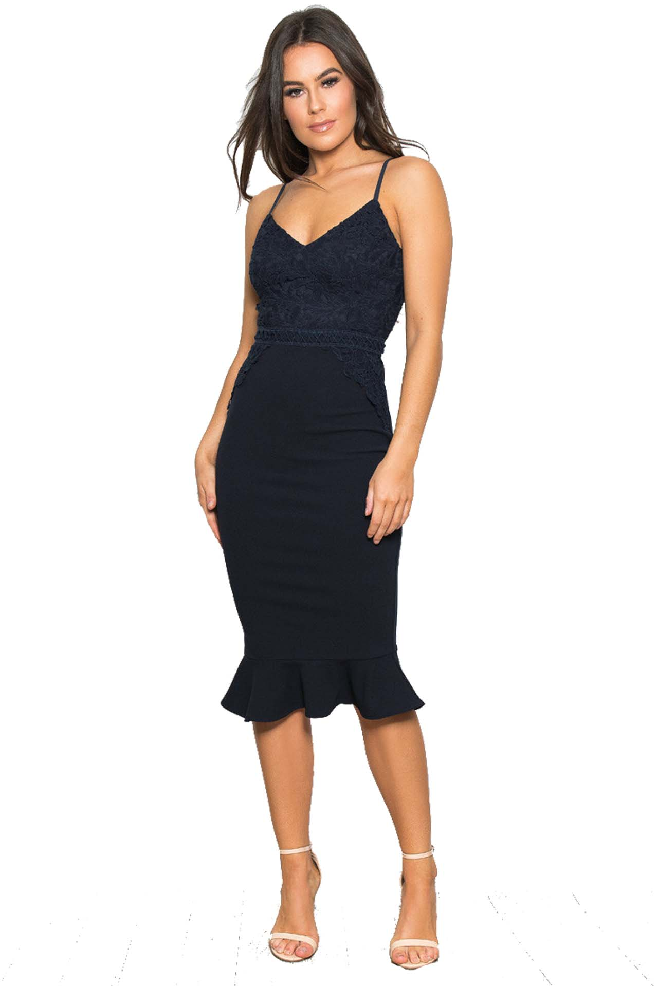 42d09091bd40 chic cocktail φόρεμα midnight blue Caroline