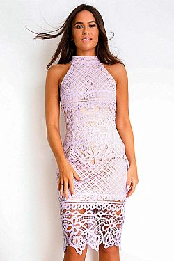 03636fd79641 chic cocktail crochet φόρεμα δαντέλα Adele lilac chic cocktail crochet  φόρεμα δαντέλα Adele lilac