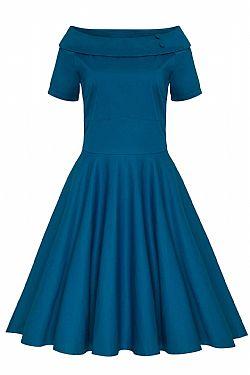 e99d780ff5c5 vintage φόρεμα Emily πετρόλ