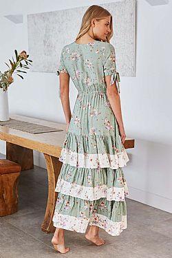 e53c488adb8 romantic bohemian luxe φόρεμα sweet green Sarah Kay ...