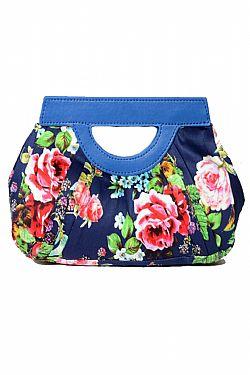 16ebfdb07b ... vintage granny floral τσαντάκι σε royal blue