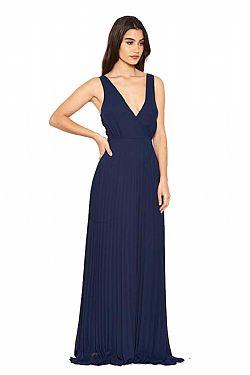 231f5ad873e ... αέρινο βραδινό φόρεμα minimal pleat σε navy