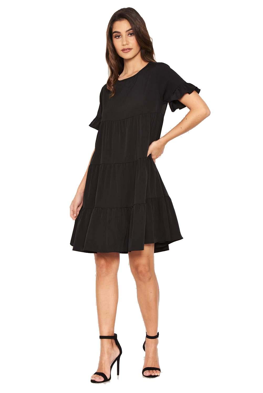 614f4a2641fc mini μαύρο φόρεμα τουνίκ Franca