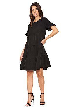 0fd7c8b06eb4 mini μαύρο φόρεμα τουνίκ Franca mini μαύρο φόρεμα τουνίκ Franca
