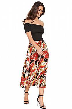 605c20ceb145 ... fashionable 2 in 1 φόρεμα bardot chain Hermes print