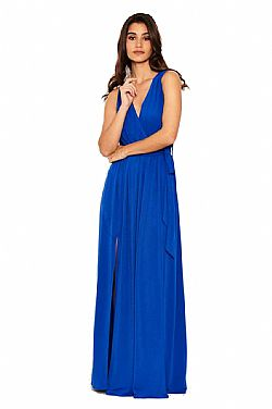 173d551a7d3f celeb maxi royal blue summer φόρεμα Wright ...
