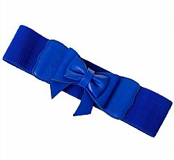 vintage ελαστική ζώνη cute bow Clara royal blue