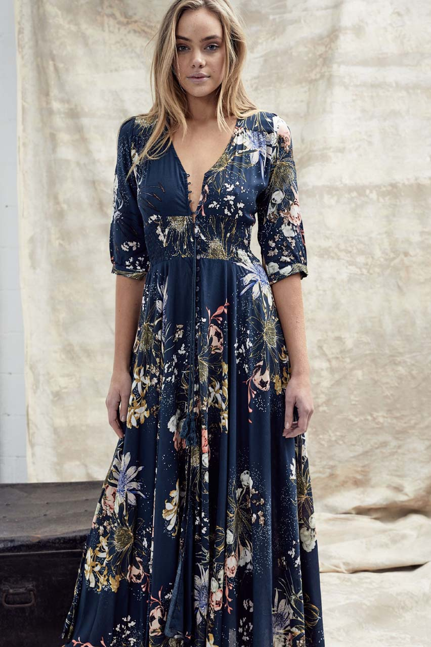 bohemian must have φόρεμα Indiana floral