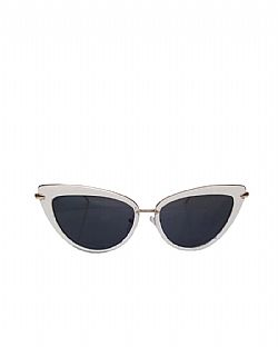vintage Dita cat eye sunnies white