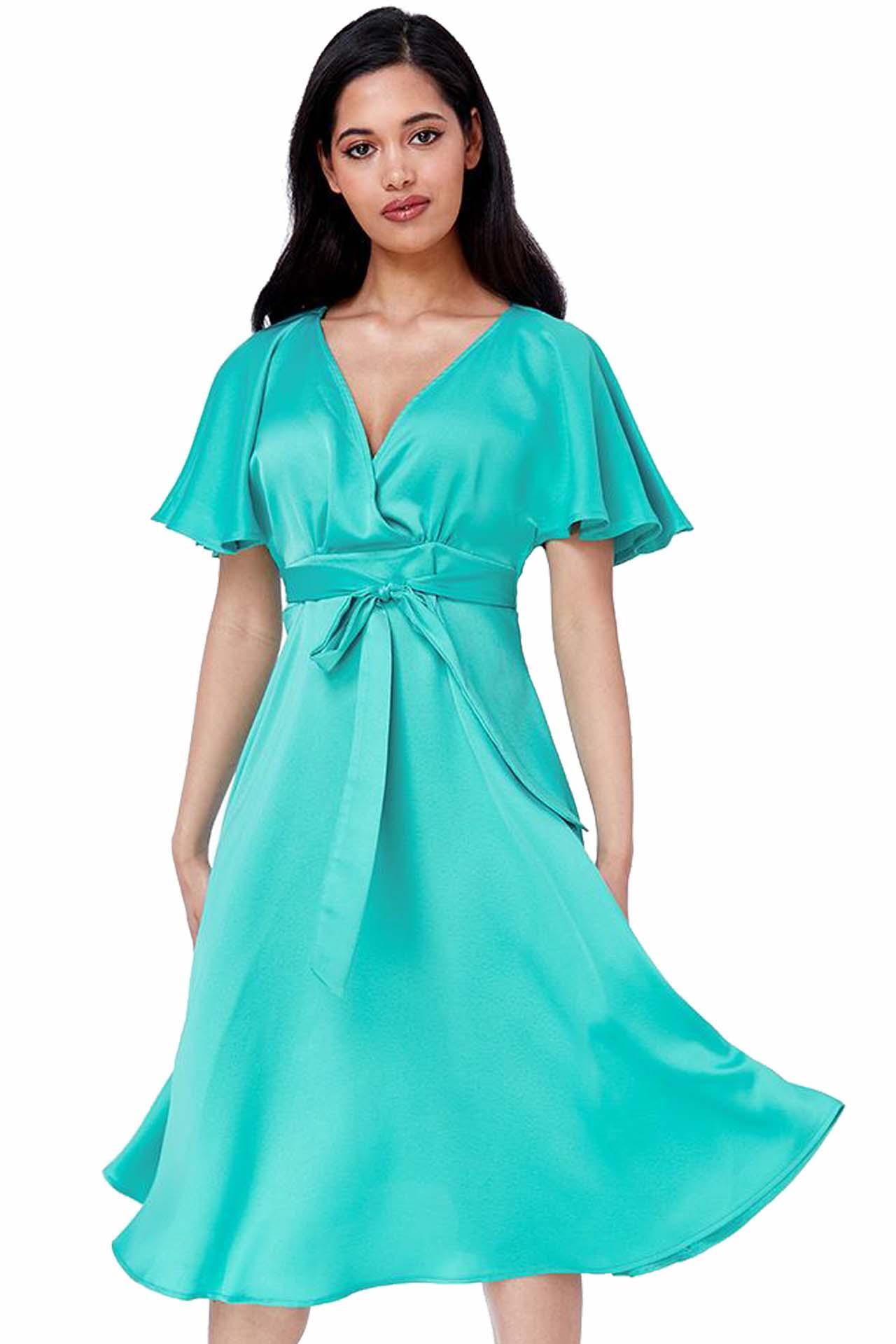 c440a56471c silk feel matte σατέν φόρεμα waterfall