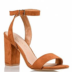 suedette tabac sandals