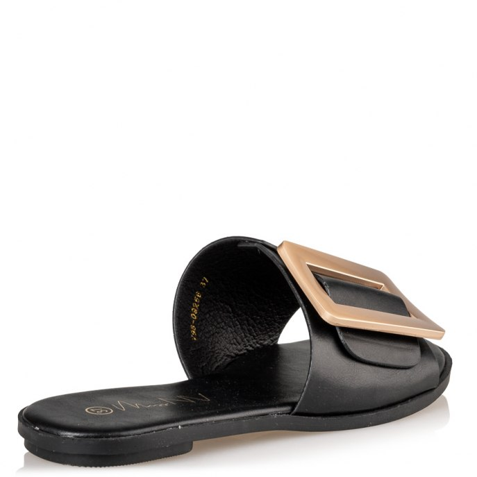 high end buckle sandals