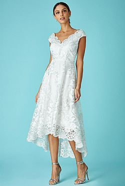 bridal delicate φόρεμα δαντέλα high low Victoria