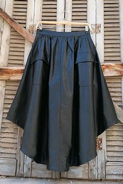 fashionista leatherette φούστα edgy chic full skirt