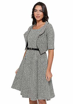 vintage styled classic chic tweed twinset Angie