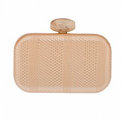 boho luxe golden textured leatherette clutch