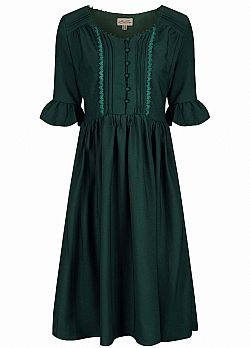 vintage country chic φόρεμα Francia green